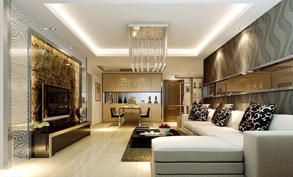 Home decoration in mumbai home makers interior for Living room and dining room ideas